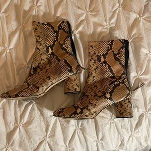 Zara snake skin booties - size 38